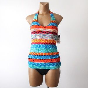 Anne Cole   Printed Halter Tankini Swimsuit 4600